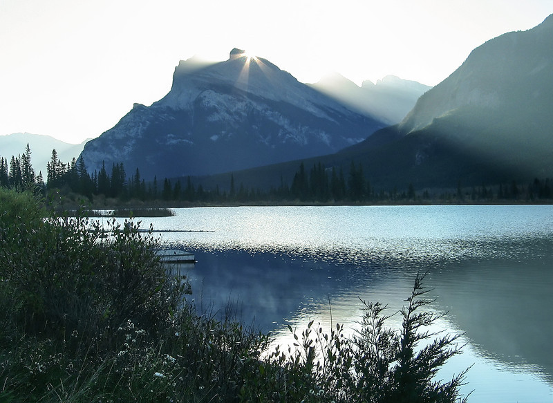 Morning sun over Vermillion Lakes<br /> Banff National Park, Alberta, Canada