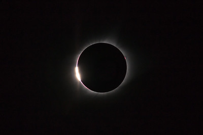 Diamond Ring, 2017 Solar Eclipse, Driggs, ID