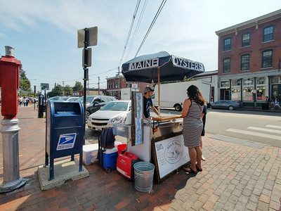 Street food seller in Portland, Maine.