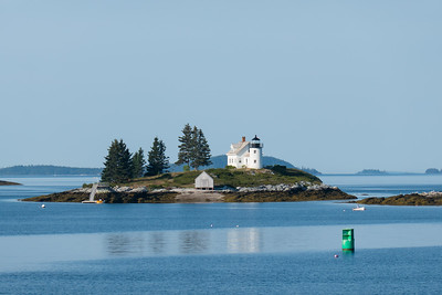 Pumpkin Island Lighthouse outside Castine, Maine.