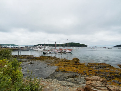 The Independence (and others) docked in Bar Harbor, Maine.