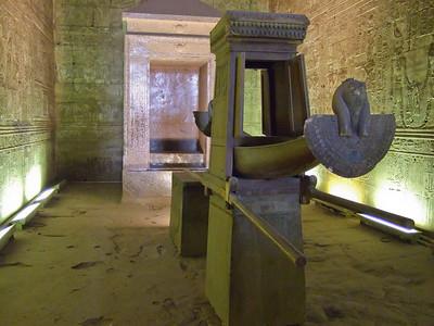 The Solar Boat inside a Chamber in Edfu Temple.