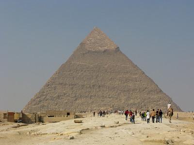Pyramid of Chephren at Giza, Egypt.
