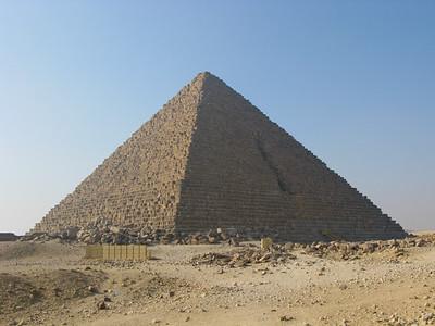 Great Pyramid of Mekerrinus at Giza, Egypt.