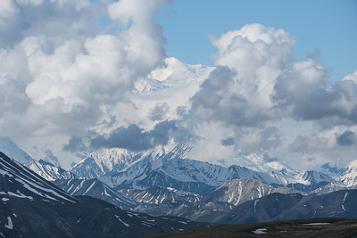 Denali, formerly Mount McKinley, in Denali National Park, Alaska.