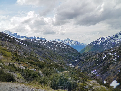 Scenery on the road on the way back to Skagway, Alaska.