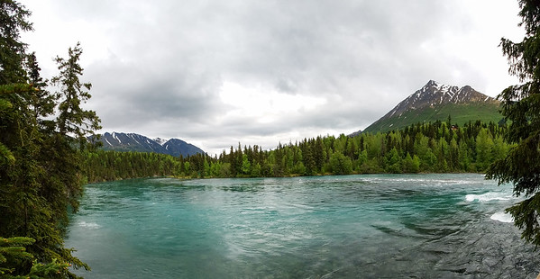 Walk to the river from the Kenai Princess Wilderness Lodge, Kenai, Alaska.