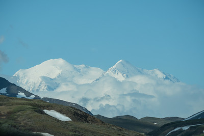 Both peaks of Denali, formerly Mount McKinley, centerpiece of Denali National Park, Alaska.