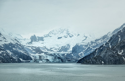 The massive John Hopkins Glacier in Glacier Bay National Park, Alaska.
