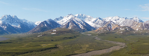 Dried melt streams in Denali National Park, Alaska.