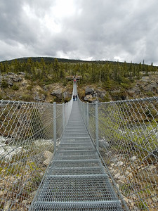 The Yukon Suspension Bridge,  B.C., Canada.