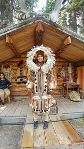 Alabaskan attire on display, Fairbanks, Alaska.