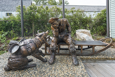 Commemorative for a gold miner and his dog in Skagway, Alaska.