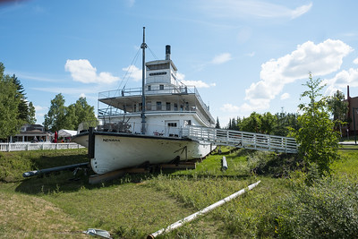 Fairbanks flood of 1967 picked up  the Riverboat Nenana and left it here, in what is now Pioneer Park, Fairbanks, Alaska.