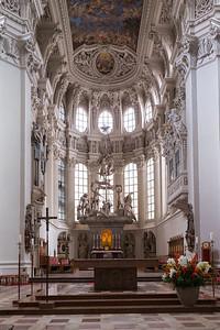 Beautiful church in Passau, Germany.