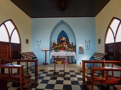 Inside the Church of Our Lady of Alto Vista on Aruba.
