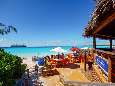 Pla'in around at the beach on Half Moon Cay, Bahamas.