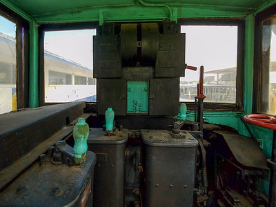 Inside an original  1914 Canal Tug built by General Electric.