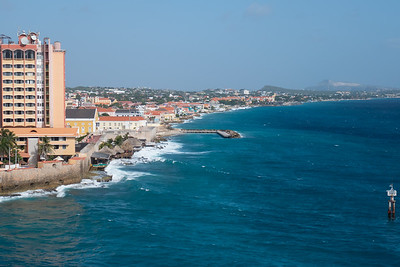 Looking down the Curacao coast from the Zuiderdam.