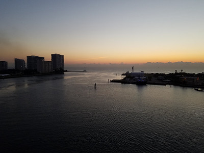 Sunrise back in Fort Lauderdale