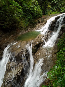 After 350 stairs we are at the waterfall in the Veragua Rainforest.