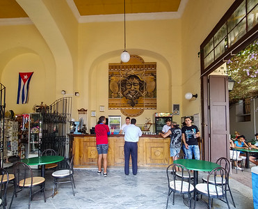 Small coffee shop in Cienfuegos, Cuba.