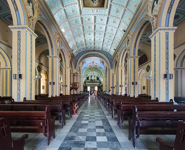 Inside the church adjacent the Parque Cespedes in Santiago de Cuba.