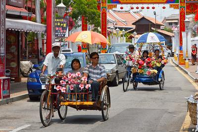 Streets of Malacca, Malaysia.