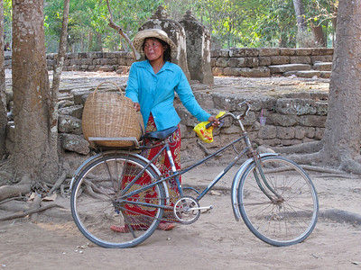 Bicycles and tourists, a life in the Ankor Conservation District, Siam Reap, Cambodia