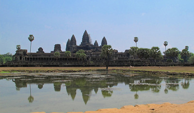 The enormity of Angkor Wat, a UNESCO World Heritage site.