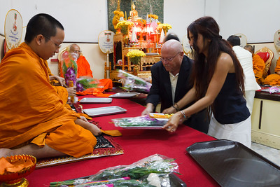 Offerings to the Monks for their prayers and the ceremony.