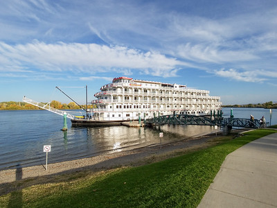 The American Pride Paddle Wheel Cruise ship.