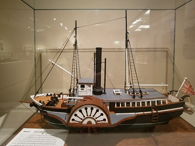 Model of the Beaver, built on the Thames.  Model is in the Maritime Museum in Astoria, OR.