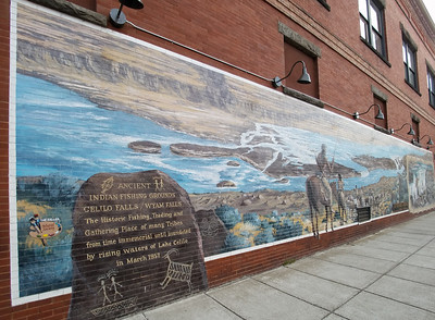 Indian Fishing Grounds Mural in the Dalles.