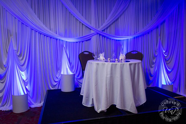 Fabric Backdrops, Head Table and Ceiling Design