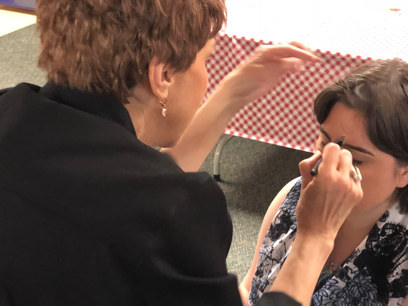 Makeup and hairstyling was offered for guests at the Special Needs Prom at Lake Orion United Methodist Church on Friday, May 11, 2018. Stephen Frye / Digital First Media.