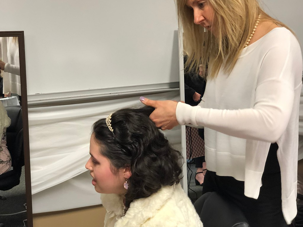 . Makeup and hairstyling was offered for guests at the Special Needs Prom at Lake Orion United Methodist Church on Friday, May 11, 2018. Stephen Frye / Digital First Media.