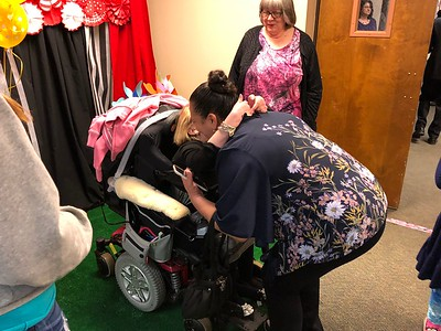 Arriving at the Lake Orion Methodist Church and its Special Needs prom on Friday, May 11, 2018. Stephen Frye / Digital First Media.