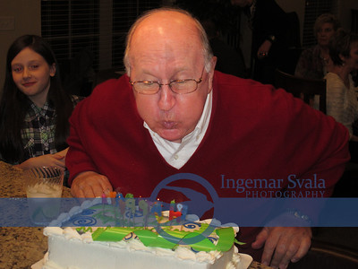 Our friend John Downie, celebrates with family his 80th Birthday in Amherst on January 11, 2014