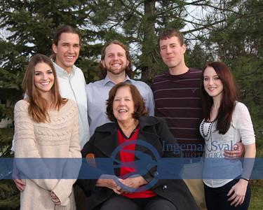 Paula Deason and family,Christmas Eve, 2012. Vermilion, Ohio