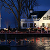 With the colored lights on the docks of most homes, it is pretty this time of year.