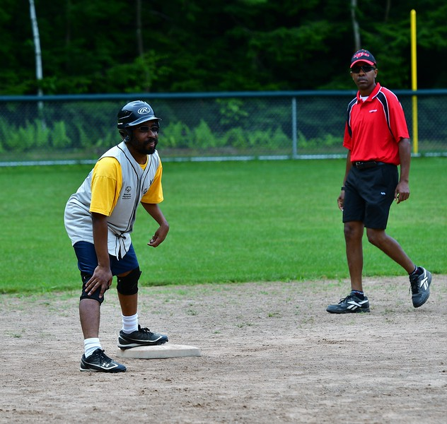 Easily one of the fastest runners on the Hawks, This Player stretched a single into a double.