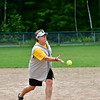 The Hawks Pitcher was also a teacher as she helped opposing players who were up to bat.