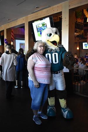 Swoop and the Eagles Cheerleaders