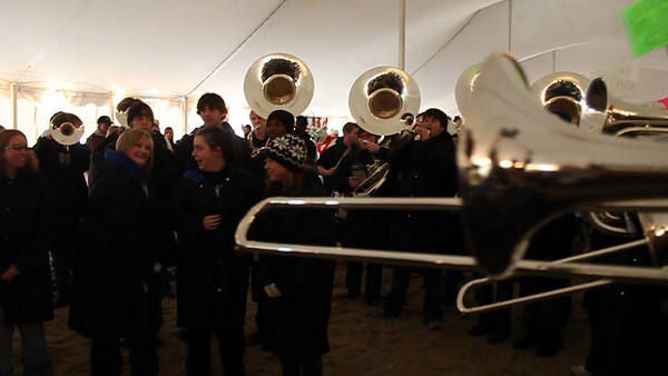 Sounds of the Polar Plunge - This is a short clip of the ODU Marching Band Who attended the Plunge on Saturday.