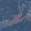 Bay with some of highest tides in the world, rivers with tidal bores. ISS over eastern Canada. (ANSWER: The Bay of Fundy)