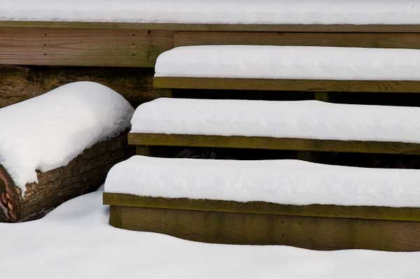 1/2012:  Snowfall on grounds at Adams Mill, in Carroll County, Indiana