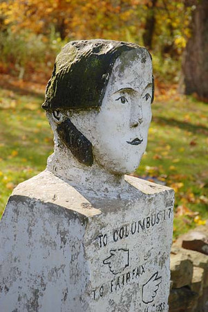 11/07:  the Stone Head marker, seen during Historic Homestead Tour