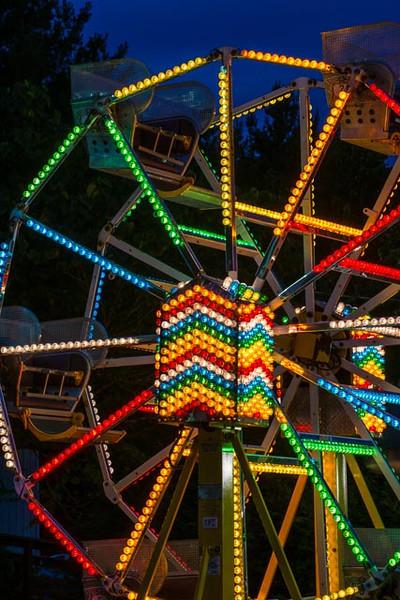 8/2013:  A miniature Ferris Wheel at the Brown County Fair.