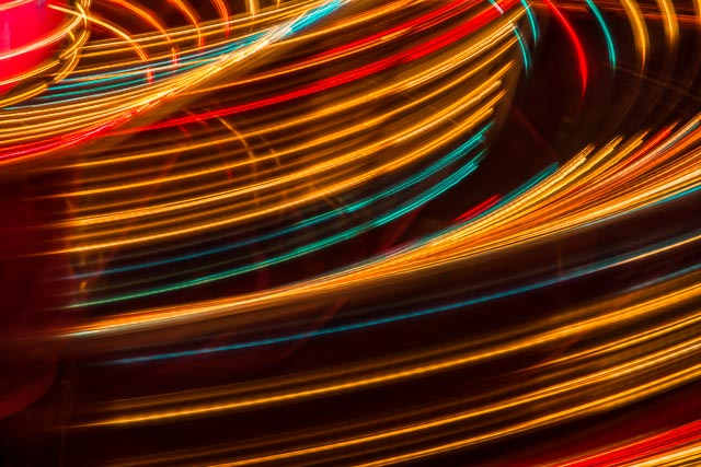 8/2013: Midway motion light streaks at the Brown County Fair.